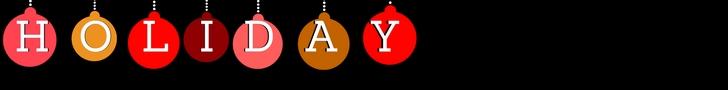 Christmas Balls spell Holiday
